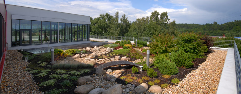 Střešní zahrada firmy Casia s.r.o. Trutnov